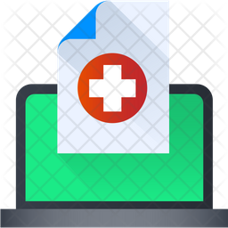 Online Medical Report Icon