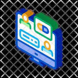 Online Medicine Advice Isometric Icon