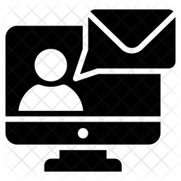 Online Message Glyph Icon