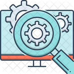 Online Methodology Processing Colored Outline Icon