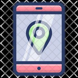 Online Mobile Location Icon