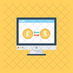 Online Money Exchange Icon