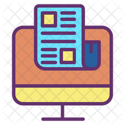 Online News Colored Outline Icon