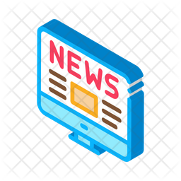 Online News Icon Of Isometric Style Available In Svg Png Eps Ai Icon Fonts