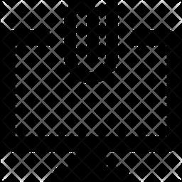 Online Paper Attach Glyph Icon
