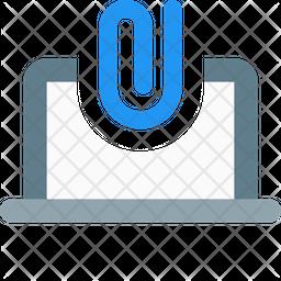 Online Paper Attach Flat Icon
