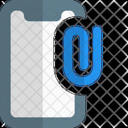 Online Paper Attach Gradient Icon