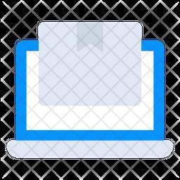 Online Parcel Flat Icon