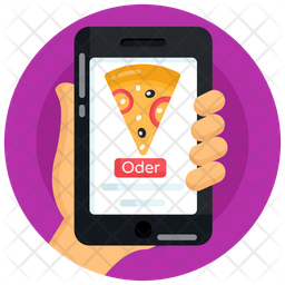 Online Pizza Order Flat Icon