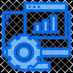 Online Project Analysis Dualtone Icon