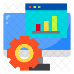 Online Project Analysis Flat Icon