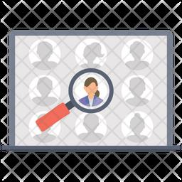 Online recruitment Flat Icon