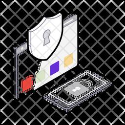Online Security Isometric Icon