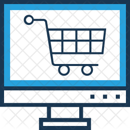 Online Shopping Colored Outline Icon