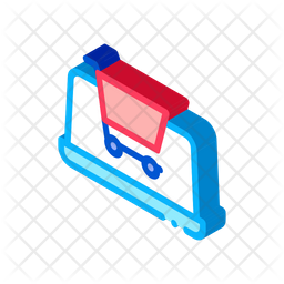 Online Shopping Isometric Icon