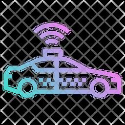 Online Taxi Gradient Icon