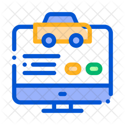 Online Taxi Book Icon