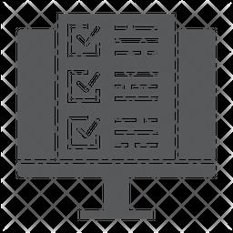Online test Glyph Icon