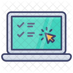 Online Test Colored Outline Icon