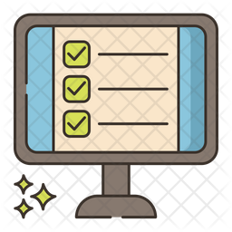 Online Tests Colored Outline Icon