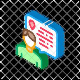 Online User Location Isometric Icon