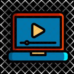 Online Video Stream Icon