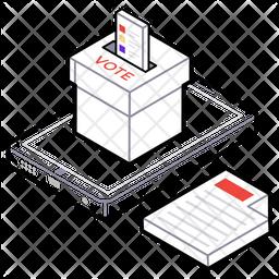 Online Voting Logo Icon