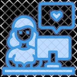 Online Writer Icon