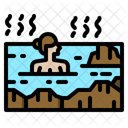 Onsen Icon Of Colored Outline Style Available In Svg Png Eps Ai Icon Fonts