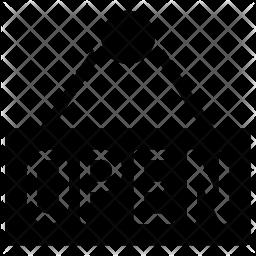 Open banner Glyph Icon