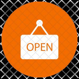 Open Board Glyph Icon