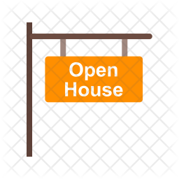 Open house signboard Icon