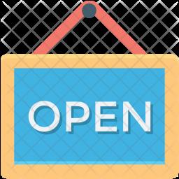 Open Sign board Icon