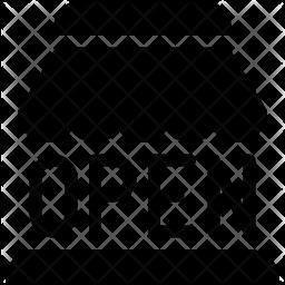 Open store Glyph Icon