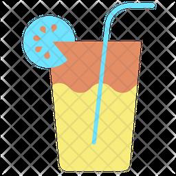 Orange Juice Flat Icon