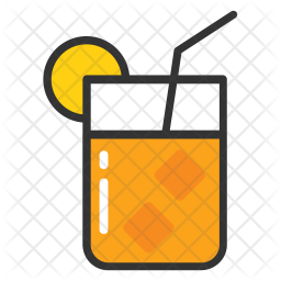 Orange Juice Icon Of Colored Outline Style Available In Svg Png Eps Ai Icon Fonts