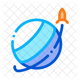Orbit Colored Outline Icon