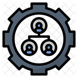 Organization Colored Outline Icon