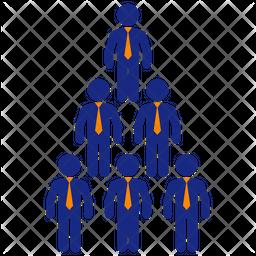 Organization Pyramid Icon