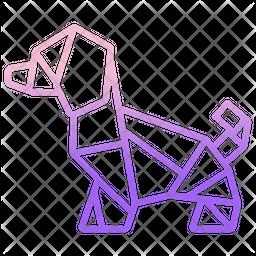 Origami Dog Icon