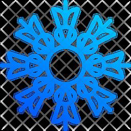 Ornamental Snowflakes Gradient Icon
