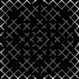 Ornamental Snowflakes Line Icon
