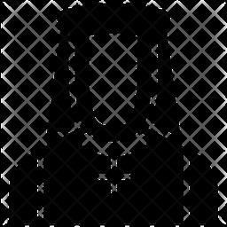 Orthodox Person Avatar Glyph Icon