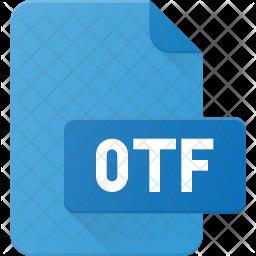 Otf file Flat Icon