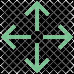 Outward Arrows Icon