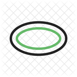 Oval Line Icon