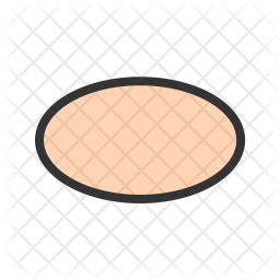 Oval Colored Outline Icon