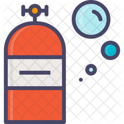 Oxygen Colored Outline Icon