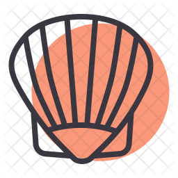 Oyster Line Icon