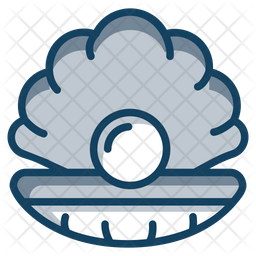 Oyster Colored Outline Icon